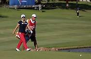 18 APR15  LPGA Rookie Sei Young Kim on the 18th green at the conclusion of Saturday's Final Round of The LOTTE Championship at The Ko Olina Golf Club in Kapolei, Hawaii. (photo credit : kenneth e. dennis/kendennisphoto.com)