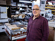 Jack Beller, Vice President of Worksman, and head of 800BuyCart, in the cart factory in Ozone Park, Queens.