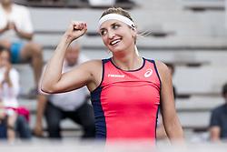 June 2, 2017 - Paris, Frankreich - Paris, 02.06.2017, Tennis - French Open 2017, Timea Bacsinszky (SUI) jubelt nach dem Spiel  (Credit Image: © Pascal Muller/EQ Images via ZUMA Press)