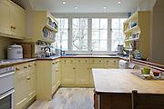 The Elliotts' kitchen, Pickwell Manor, Georgeham, North Devon, UK.<br /> CREDIT: Vanessa Berberian for The Wall Street Journal<br /> HOUSESHARE