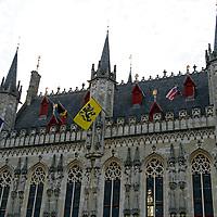 Europe, Belgium, Brugges. The City Hall on Burg Square.