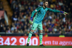 March 23, 2019 - Valencia, Valencia, Spain - David De Gea of Spain gives instructions during the 2020 UEFA European Championships group F qualifying match between Spain and Norway at Estadi de Mestalla on March 23, 2019 in Valencia, Spain. (Credit Image: © Jose Breton/NurPhoto via ZUMA Press)