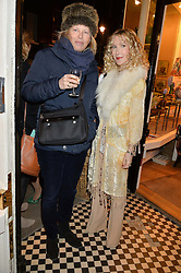 Left to right, LADY ALEXANDRA FOLEY and BASIA BRIGGS at a party hosted by Melodi Horne & Pentreath & Hall at 17 Rugby Street, Bloomsbury, London on 12th February 2015.