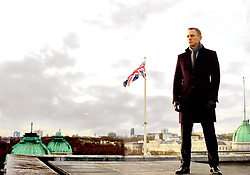 RELEASE DATE: November 9, 2012 <br /> MOVIE TITLE: 007 Skyfall<br /> STUDIO: Columbia Pictures <br /> DIRECTOR: Sam Mendes<br /> PLOT: Bond's loyalty to M is tested as her past comes back to haunt her. As MI6 comes under attack, 007 must track down and destroy the threat, no matter how personal the cost <br /> PICTURED: DANIEL CRAIG as James Bond <br /> (Credit Image: © Columbia Pictures/Entertainment Pictures/ZUMAPRESS.com)