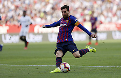 February 23, 2019 - Seville, Madrid, Spain - Lionel Messi (FC Barcelona) seen in action during the La Liga match between Sevilla FC and Futbol Club Barcelona at Estadio Sanchez Pizjuan in Seville, Spain. (Credit Image: © Manu Reino/SOPA Images via ZUMA Wire)