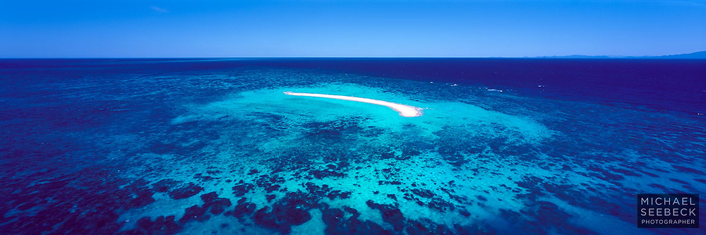Beautiful Sudbury Cay captured from a helicopter on a clear Winter's day on the Great Barrier Reef.<br /> <br /> Code: HAQI0012<br /> <br /> Limited Edition Print