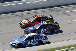 April 29, 2018 - Talladega, Alabama, United States of America - Martin Truex, Jr (78), Erik Jones (20) and Kyle Larson (42) battle side by side down the front stretch for position during the GEICO 500 at Talladega Superspeedway in Talladega, Alabama. (Credit Image: © Justin R. Noe Asp Inc/ASP via ZUMA Wire)
