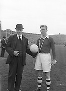 All Ireland Senior Football Championship Final, Louth v Cork .22.09.1957, 09.22.1957, 22st September 1957, .Louth 1-09 Cork 1-07,.. 22091957AISFCF, BEFORE THE KICK OFF OF THE ALL IRELAND SENIOR GAELIC FOOTBALL FINAL BETWEEN LOUTH AND CORK IN CROKE PARK ON SEPTEMBER 21ST 1957, LOUTH WON THE SAM MAGUIRE CUP 1-9 TO 1-7,