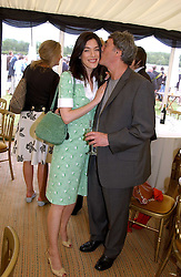 Actress JAIME MURRAY and her father actor BILLY MURRAY at the Kuoni World Class Polo Day held at Hurtwood Park Polo Club, Surrey on 29th May 2005.<br />