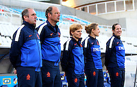 Fifa Womans World Cup Canada 2015 - Preview //<br /> Cyprus Cup 2015 Tournament ( Gsp Stadium Nicosia - Cyprus ) - <br /> Netherlands vs England 1-1   //  Roger Reijners - Coach of Netherlands (1-Left) and his Assistent Staff