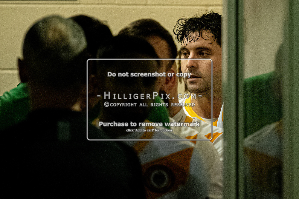 MERSTHAM, UK - OCTOBER 15: Charlie Allen, of Cray Wanderers FC, in the tunnel before the BetVictor Isthmian Premier League match between Merstham and Cray Wanderers at The Whisky Bible Stadium on October 15, 2019 in Merstham, UK. <br /> (Photo: Jon Hilliger)