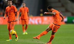 19-11-2013 VOETBAL: NEDERLAND - COLOMBIA: AMSTERDAM<br /> Nederland speelt met 0-0 gelijk tegen Colombia / Memphis Depay<br /> ©2013-FotoHoogendoorn.nl