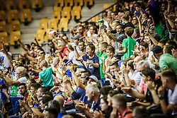 Fans of Slovenia during friendly basketball match between Slovenia and Croatia , on September 8, 2018 in Arena Zlatorog, Celje, Slovenia. Photo by Ziga Zupan / Sportida