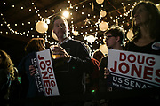 """BIRMINGHAM, AL – DECEMBER 11, 2017: On the eve of the Special General Election for Senate, Alabamians turn out to support democratic candidate Doug Jones at a """"get out the vote"""" rally.  CREDIT: Bob Miller for The New York Times"""
