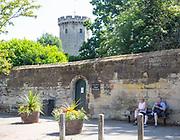 Town entrance to Warwick castle, Warwick, Warwickshire, England, UK