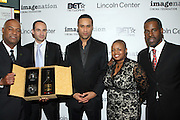 l to r: Noel Hankin, Guest, Maurice Dubios, Moikgansti Kgama and Greg Gates at The ImageNation celebration for the 20th Anniversary of ' Do the Right Thing' held Lincoln Center Walter Reade Theater on February 26, 2009 in New York City. ..Founded in 1997 by Moikgantsi Kgama, who shares executive duties with her husband, Event Producer Gregory Gates, ImageNation distinguishes itself by screening works that highlight and empower people from the African Diaspora.