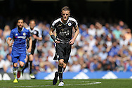 Jamie Vardy of Leicester City looks on. Barclays Premier league match, Chelsea v Leicester city at Stamford Bridge in London on Sunday 15th May 2016.<br /> pic by John Patrick Fletcher, Andrew Orchard sports photography.