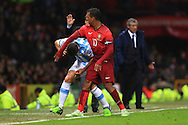 Nani of Portugal battles Martin Demichelis of Argentina - Argentina vs. Portugal - International Friendly - Old Trafford - Manchester - 18/11/2014 Pic Philip Oldham/Sportimage