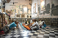 Capturing the life inside a very small temple in the heart of Vrindavan