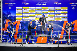 May 13, 2018 - Monza, Italie - 11 EUROINTERNATIONAL (USA) LIGIER JS P3 NISSAN LMP3 GIORGIO MONDINI (ITA) KAY VAN BERLO (NLD) WINNER LMP3 #6 360 RACING (GBR) LIGIER JS P3 NISSAN LMP3 TERRENCE WOODWARD (GBR) ROSS KAISER (GBR) JAMES SWIFT (GBR) SECOND LMP3 #3 UNITED AUTOSPORTS (USA) LIGIER JS P3 NISSAN LMP3 ANTHONY WELLS (GBR) MATTHEW BELL (GBR) GARRET GRIST (CAN) THIRD LMP3 (Credit Image: © Panoramic via ZUMA Press)