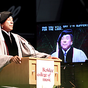 """""""...And you will say I'm suffering for the look"""" says Smoky Robinson during his address to more than 850 Berklee's graduates and guest at the Commencement ceremony, May 9 2009."""