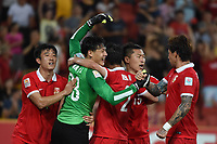 Fotball<br /> Asian Cup / Asiamesterskapet<br /> 10.01.2015<br /> Kina v Saudi Arabia<br /> Foto: imago/Digitalsport<br /> NORWAY ONLY<br /> <br /> Wang Dalei (2nd L) of China celebrates with his teammates during a Group B match against Saudi Arabia at the AFC Asian Cup in Brisbane, Australia, Jan. 10, 2015. China won 1-0