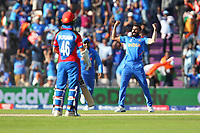 Cricket - 2019 ICC Cricket World Cup - Group Stage: India vs. Afghanistan<br /> <br /> Mohammed Shami of India celebrates taking his hat trick at the Hampshire Bowl, Southampton.<br /> <br /> COLORSPORT/SHAUN BOGGUST