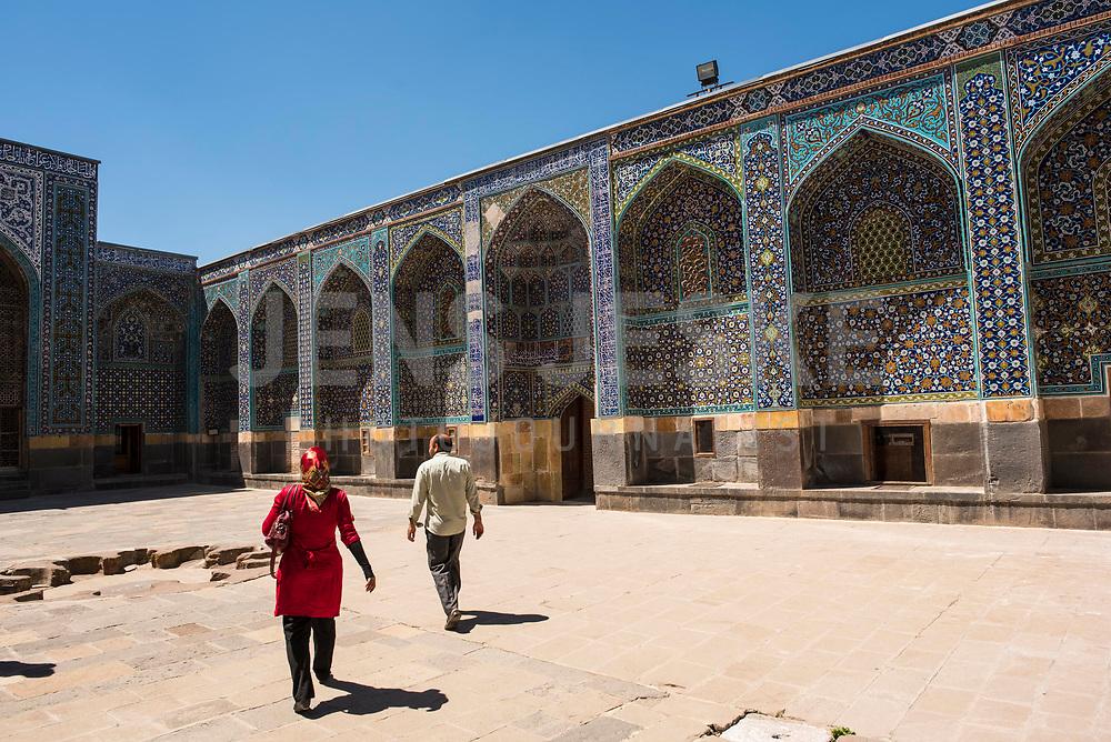 Iran, Ardabil, 21.08.2016: Scheich-Safi-Moschee. Provinz Ardabil, Nordwest-Iran. Sheikh Safi Mausoleum.