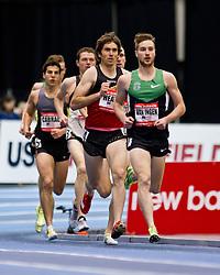 New Balance Indoor Grand Prix track meet: Men's 3000 meters, Erik Van Ingen lead Heath