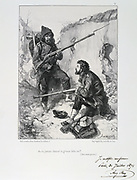 Franco-Prussian War 1870-1871.  Siege of Paris 19 Sept 1870-28 Jan 1871. Arrival of the Garde Mobile to help defend Paris, September 1870.  From a series of lithographs  by Clement August Andrieux on the Gardes Nationales.