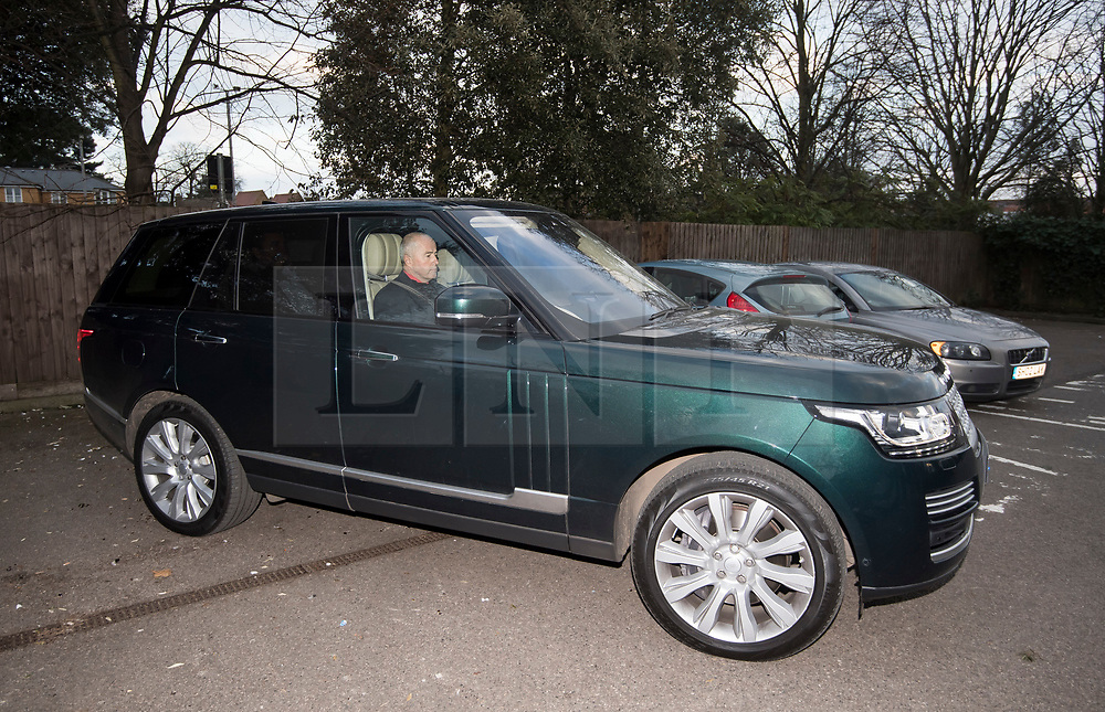 © Licensed to London News Pictures. 23/02/2018. Ilford, UK. Former BHS owner DOMINIC CHAPPELL being driven from Barkingside Magistrates' Court in Ilford, London in a Range Rover, following his sentence for not disclosing information to The Pensions Regulator. Chappell claimed during the hearing atet he paid £8000 a quarter for the vehicle hire. Chappell, who was charged with neglecting to hand over vital documents relating to the purchase of BHS, paid Sir Philip Green for £1 for the retail store in 2015. It subsequently crashed, with 11,000 jobs lost, leaving a pensions black hole of over £570m. Photo credit: Ben Cawthra/LNP