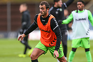 Forest Green Rovers Farrend Rawson(6) warming up during the The FA Cup 1st round match between Oxford United and Forest Green Rovers at the Kassam Stadium, Oxford, England on 10 November 2018.