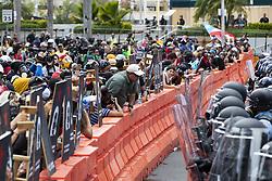 May 1, 2019 - San Juan, Puerto Rico, PR - San Juan, Mayo 1ro, 2019 - MA - FOTOS para ilustrar una historia sobre las manifestaciones durante el d'a de los trabajadores (protestas primero de mayo). EN LA FOTO una vista de la manifestaci—n en la intersecci—n de la avenida Chatd—n con la Mu–oz Rivera ..FOTO POR:  tonito.zayas@gfrmedia.com.Ramon '' Tonito '' Zayas / GFR Media (Credit Image: © El Nuevo Dias via ZUMA Press)