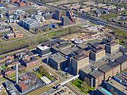 Nederland, Noord-Holland, Amsterdam, 16-04-2021; Amsterdam-Zuidoost, Amstel III en Bullewijk. Amsterdam UMC (Universitair Medische Centra), locatie AMC, Meibergdreef.<br /> Amsterdam Southeast, Amstel III and Bullewijk. Amsterdam UMC (University Medical Centers), location AMC, Meibergdreef.<br /> luchtfoto (toeslag op standaard tarieven);<br /> aerial photo (additional fee required)<br /> copyright © 2021 foto/photo Siebe Swart