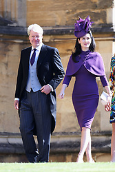 Guests arrive for the wedding of Prince Harry, The Duke of Sussex to Meghan Markle. 19 May 2018 Pictured: Charles Spencer, 9th Earl Spencer and Karen Spencer. Photo credit: Chris Jackson/Getty Image / MEGA TheMegaAgency.com +1 888 505 6342
