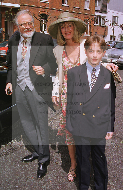 MR & MRS TEDDY GOLDSMITH, he is the brother of the late Sir James Goldsmith and their son ZENO GOLDSMITH, at a wedding in London on 5th June 1999.<br /> MSW 18