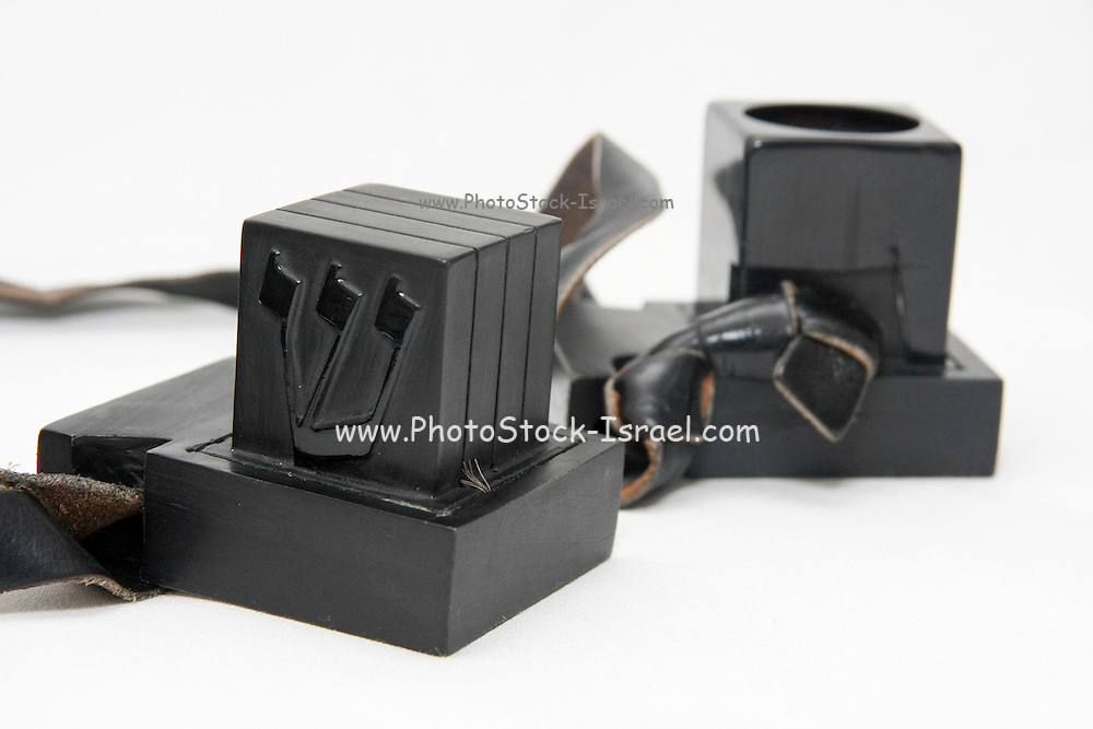 Cutout of Tifillin on white background