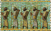 The Immortals. Bodyguard of Persian Kings. Frieze from audience hall of citadel of Darius I (548-486 BC) at Susa. Excavated by Dieulafoy.