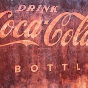 Drink Coca Cola Rusted Sign Detail - Eldorado Canyon - Nelson NV