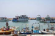 Cyprus, Agia Napa The fishing harbour, now a port for tourists boats and party voyages. a small vacation town on the Mediterranean Sea on the southern shores of the island