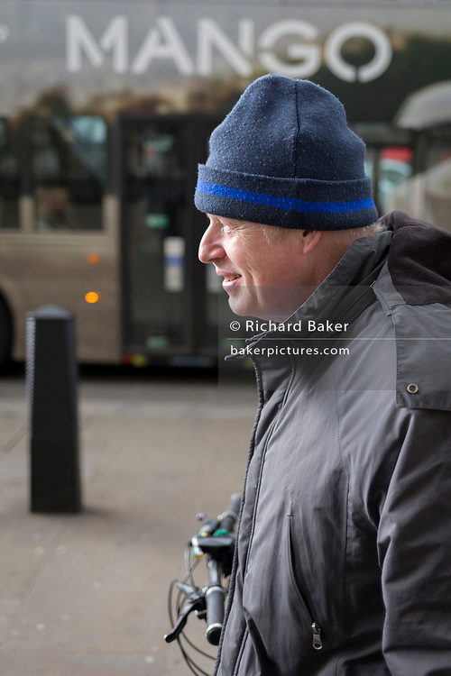On the day that Prime Minister Theresa May meets with Labour leader Jeremy Corbyn in an attempt to progress Brexit through parliament, controversial Conservative MP, Boris Johnson makes his way to his Whitehall offices in Westminster, on 3rd April 2019, in London, England.