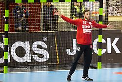 Benjamin Buric of Gorenje during handball match between RK Gorenje Velenje and HSV Hamburg (GER) in 8th Round of EHF Champions League 2014 on February 5, 2014 in Rdeca Dvorana, Velenje, Slovenia. Photo by Vid Ponikvar / Sportida