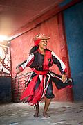 Close up of woman dancing traditional Cuban dance, Havana, Cuba
