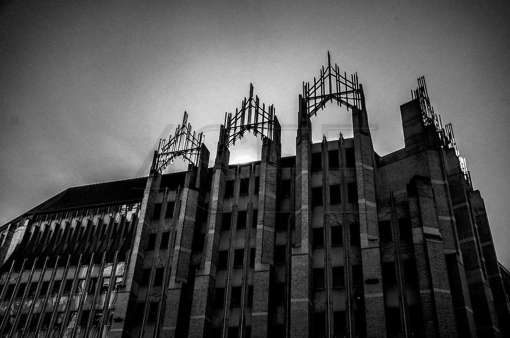March 2015. Brussels. A building near the city center.