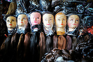 Dummies lined up in Central Market, Phnom Penh, Cambodia, Southeast Asia