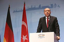 July 8, 2017 - Hamburg, Hamburg, Deutschland - Recep Tayyip Erdogan bei einer Pressekonferenz auf dem G20-Gipfel. Hamburg, 08.07.2017 (Credit Image: © Future-Image via ZUMA Press)