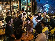 28 JANUARY 2016 - BANGKOK, THAILAND:  Inside SoulBar, a popular bar on Chareon Krung Road in the Chinatown section of Bangkok.       PHOTO BY JACK KURTZ