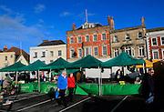 Historic market place and buildings, Devizes, Wiltshire, England, UK