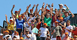 April 1, 2018 - FL, USA - Fans cheer on Sunday, April 1, 2018 during the men's final at the Miami Open on Key Biscayne, Fla. (Credit Image: © Charles Trainor Jr/TNS via ZUMA Wire)