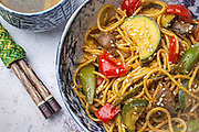 Chinese Pasta Prima Vera,Miami Food Photography